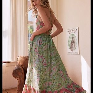 Spell & the gypsy city lights maxi dress in sage